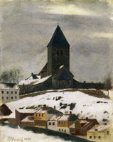 Edvard Munch Gamle Aker Church