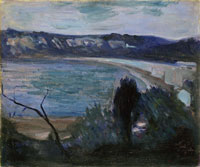 Edvard Munch Moonlight by the Mediterranean