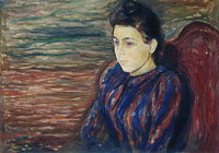 Edvard Munch Seated Young Woman