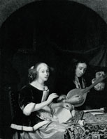 Godfried Schalcken A Woman singing and a Man with a Cittern