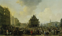 Johannes Lingelbach Dam Square with the New Town Hall under Construction