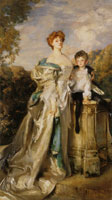 John Singer Sargent The Countess of Warwick and her Son