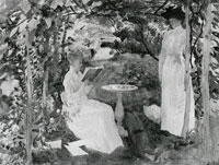 John Singer Sargent Misses Katharine and Louisa Loring or Study in Greens