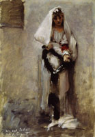 John Singer Sargent A Young Girl Seeking Alms
