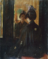 William Merritt Chase The Mirror