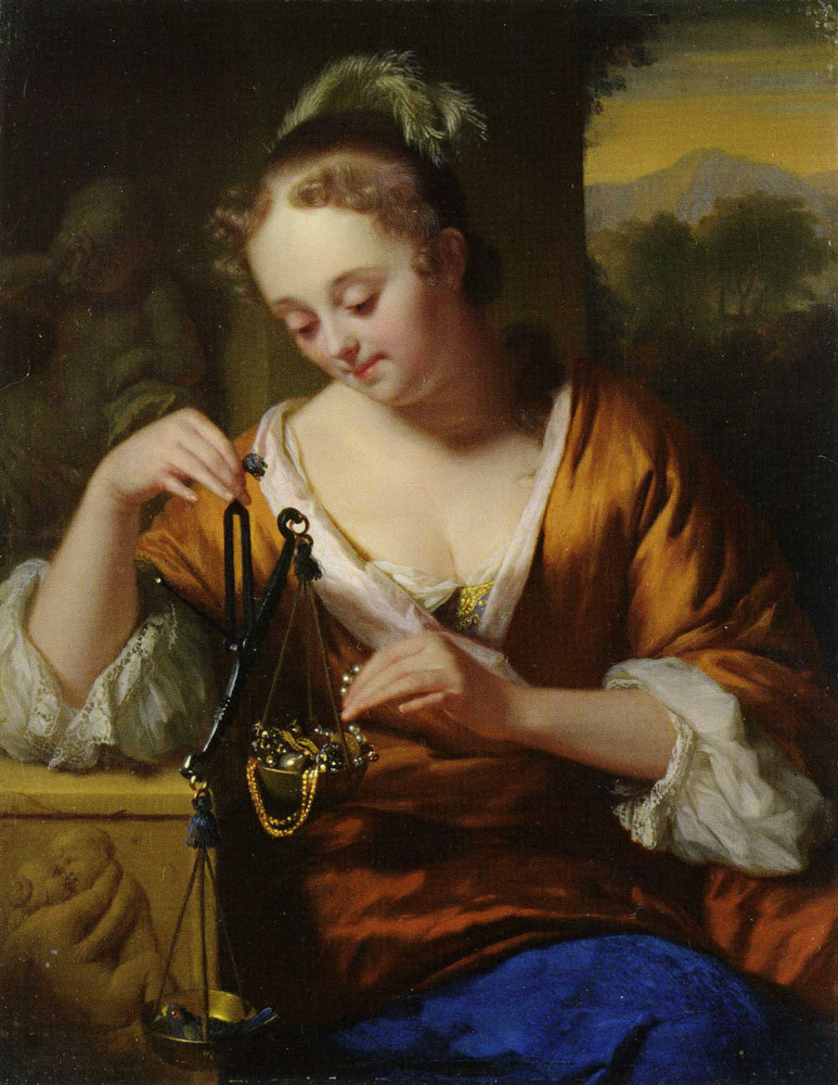 Godfried Schalcken - Allegory of Virtue and Riches