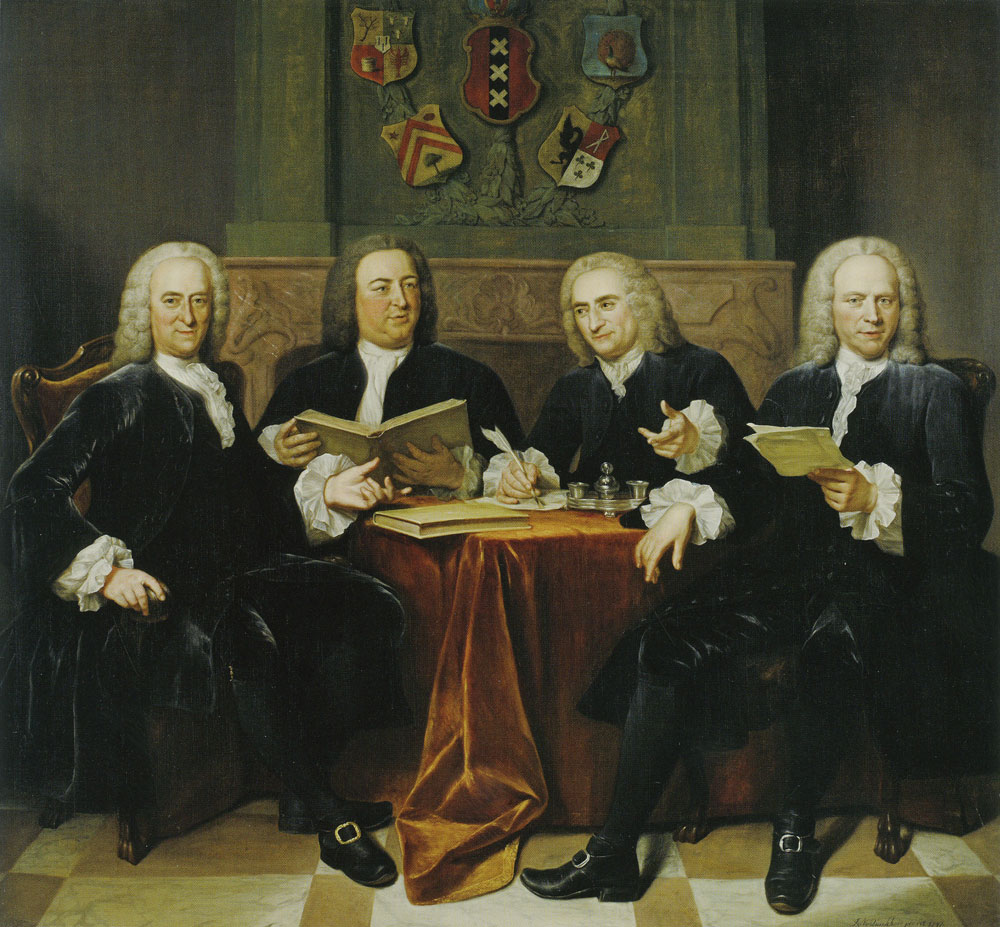Jan Maurits Quinkhard - Four commissioners for the harbours