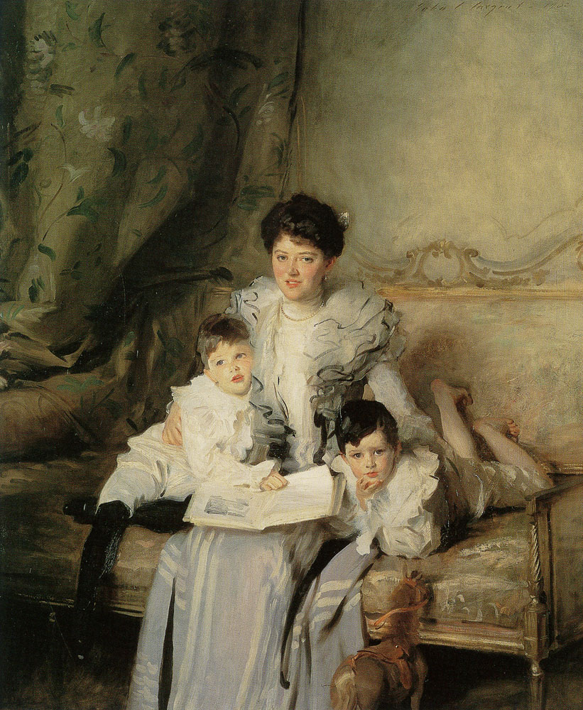 John Singer Sargent - Mrs Arthur Knowles and her Two Sons