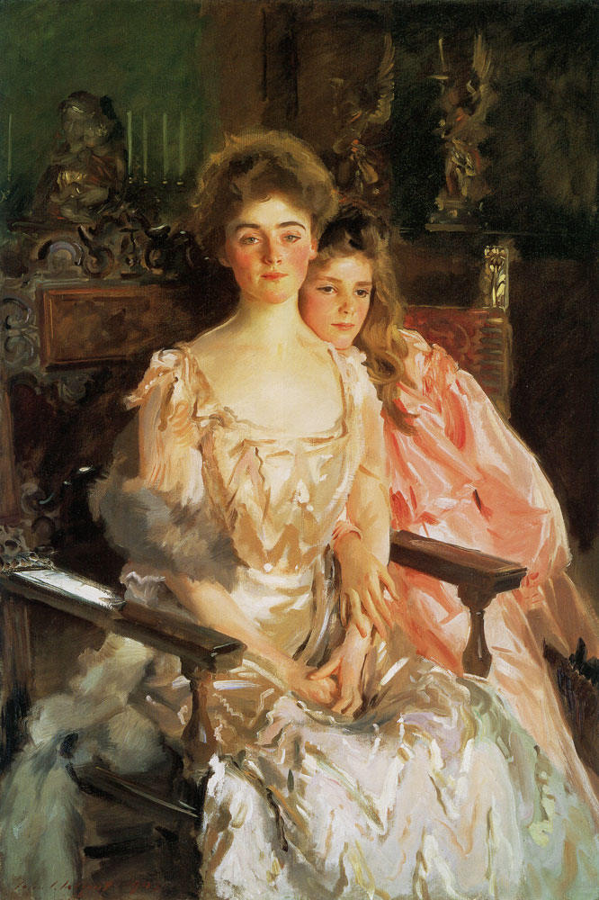 John Singer Sargent - Mrs Fiske Warren and her Daughter, Rachel