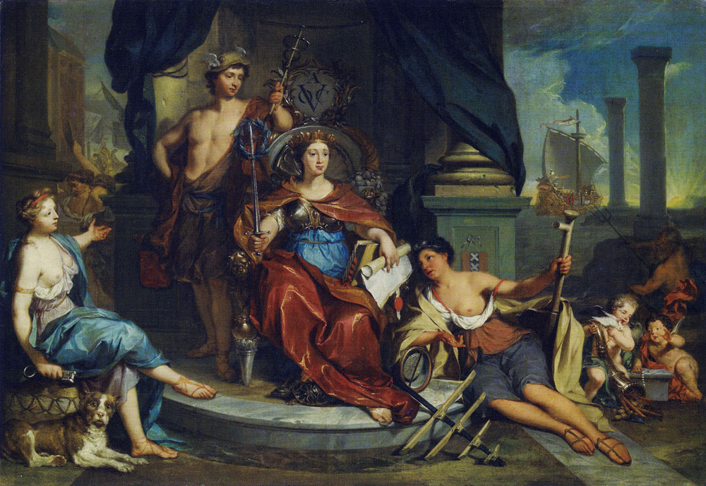 Nicolaas Verkolje - Allegory of the Amsterdam chamber of the Dutch East India Company (VOC)