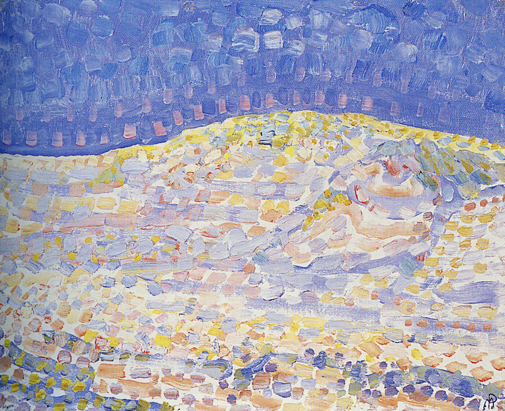 Piet Mondriaan - Pointillist Dune Study, Crest at Right
