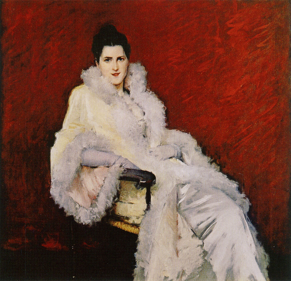 William Merritt Chase - Portrait of Miss C.
