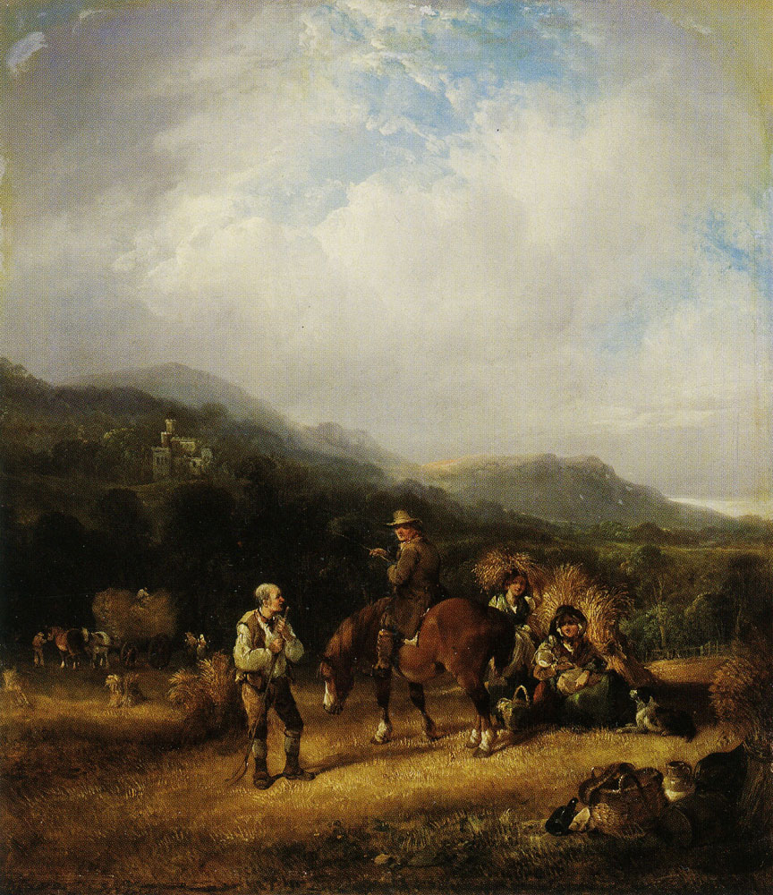 William Shayer - The Harvest Field - A Scene in the Isle of Wight