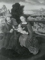 Ambrosius Benson - The Holy Family in a Landscape