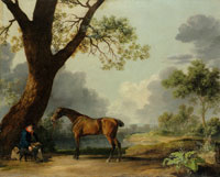 George Stubbs The Third Duke of Dorset's Hunter with a Groom and a Dog