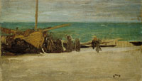 James Abbott McNeill Whistler - Sea Shore. Arrangement in Grey and Black