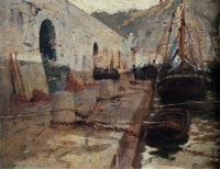 John Singer Sargent Boats in Harbour I