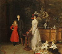 John Singer Sargent Sir George Sitwell, Lady Ida Sitwell and Family