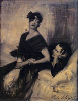 John Singer Sargent Man and Woman on a Bed