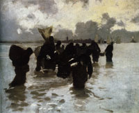 John Singer Sargent Oyster Gatherers Returning