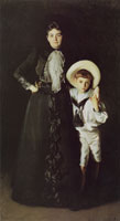 John Singer Sargent Mrs Edward Davis and her Son, Livingston