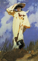 John Singer Sargent Judith Gautier or A Gust of Wind