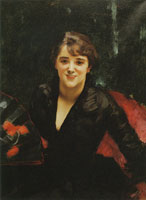 John Singer Sargent Madame Errazuriz or The Lady in Black