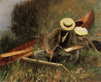 John Singer Sargent Paul Helleu Sketching with his Wife or An Out-of-Doors Study