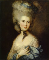 Thomas Gainsborough Portrait of a Lady in Blue