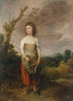 Thomas Gainsborough Peasant Girl Gathering Faggots in a Wood