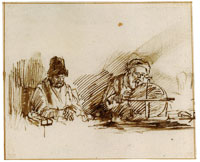 Willem Drost Two Old Scholars