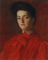 William Merritt Chase A Lady in Red