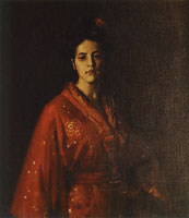William Merritt Chase The Red Kimono