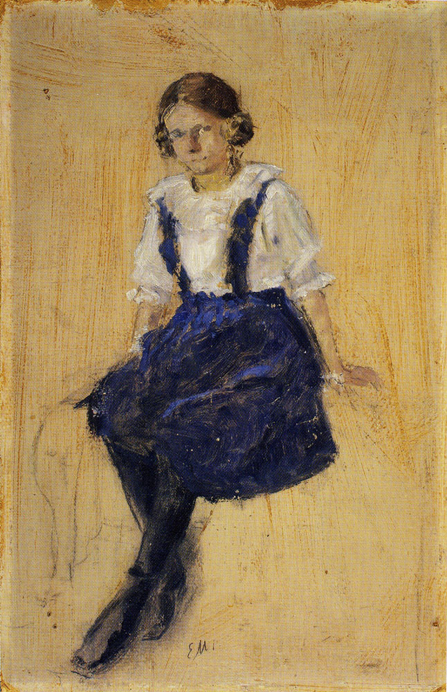 Edvard Munch - Seated Young Girl
