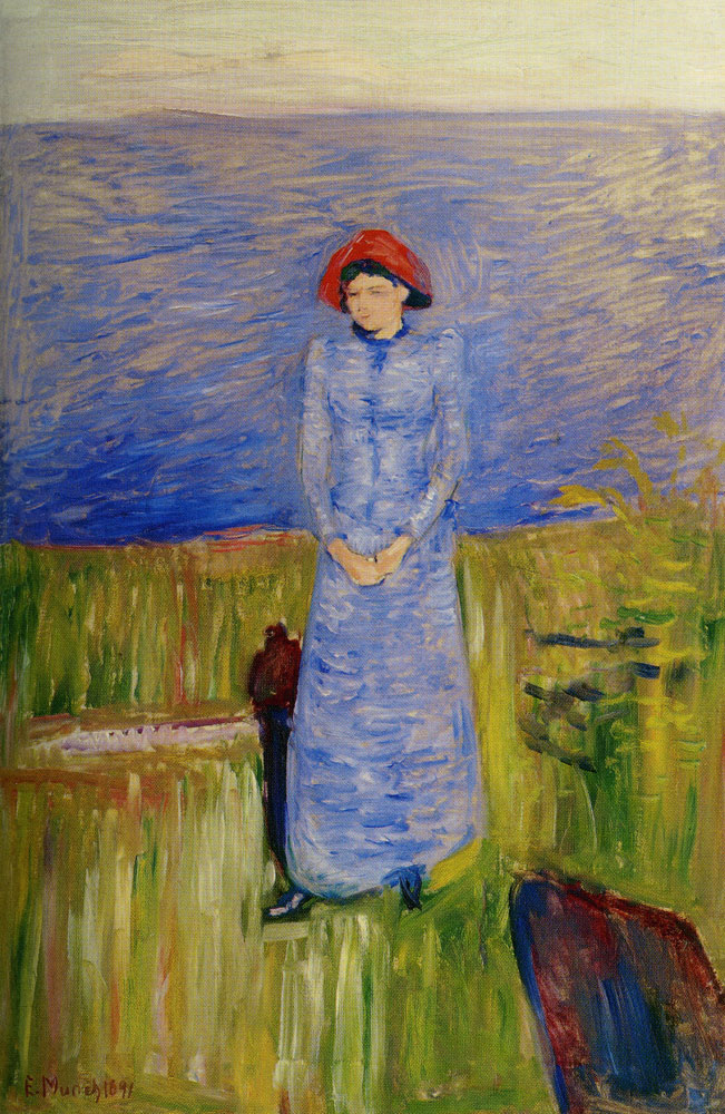 Edvard Munch - Woman in Blue Against Blue Water