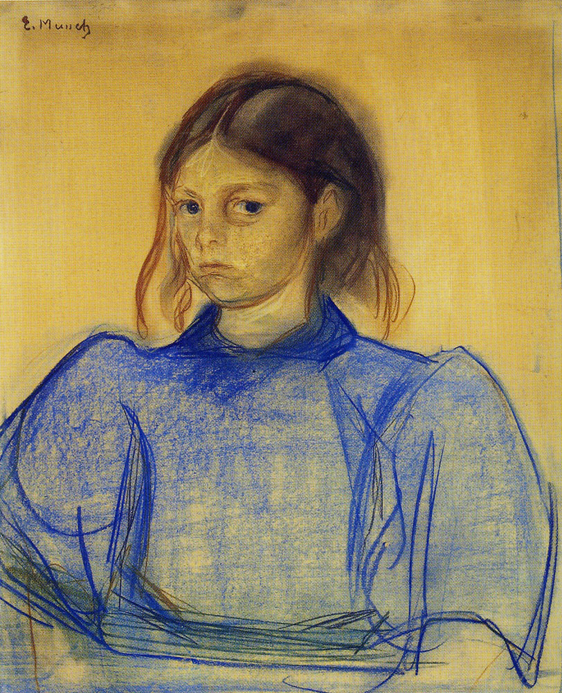 Edvard Munch - Young Woman in Blue