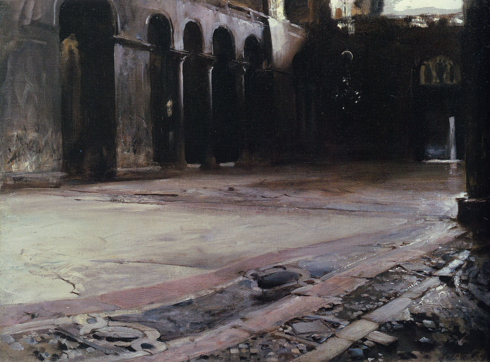 John Singer Sargent - Pavement of St Mark's, Venice