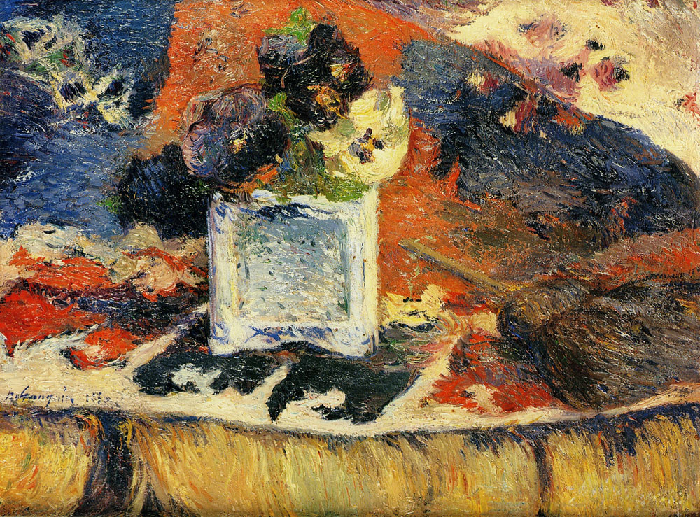 Paul Gauguin - Flowers and Carpet (Pansies)