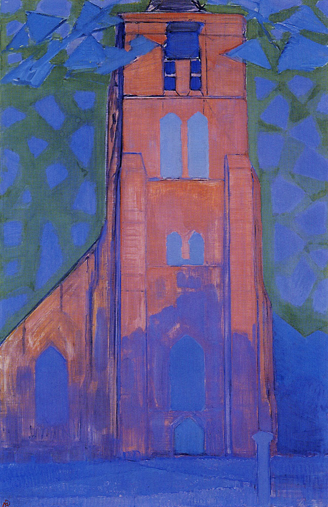 Piet Mondriaan - Church Tower at Domburg