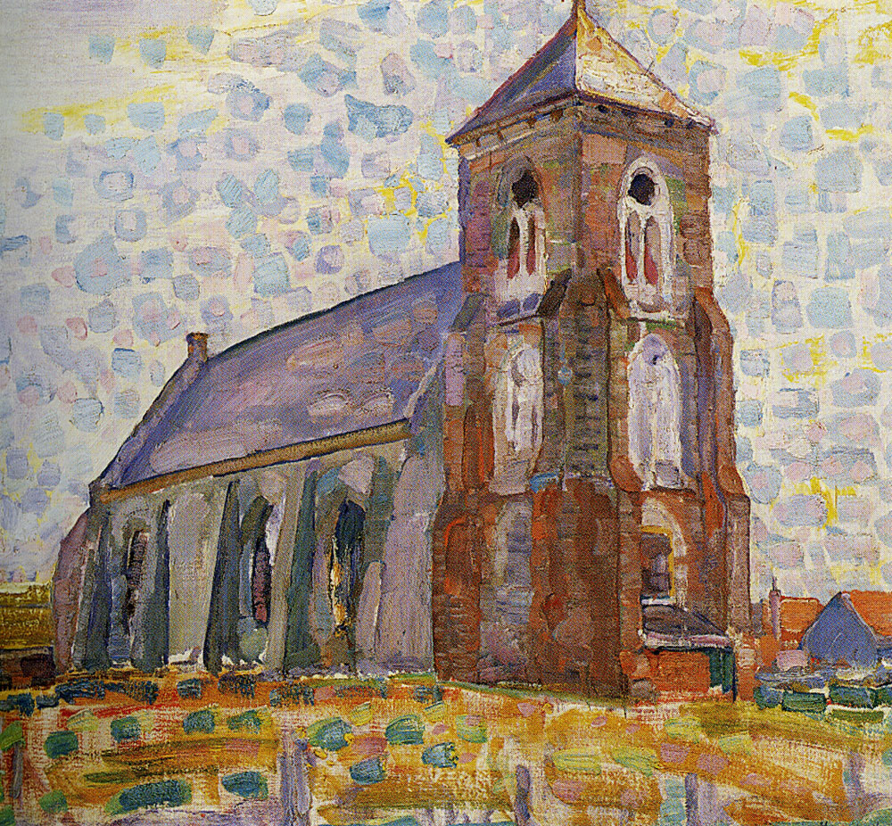Piet Mondriaan - Church at Zoutelande, Three-quarter View