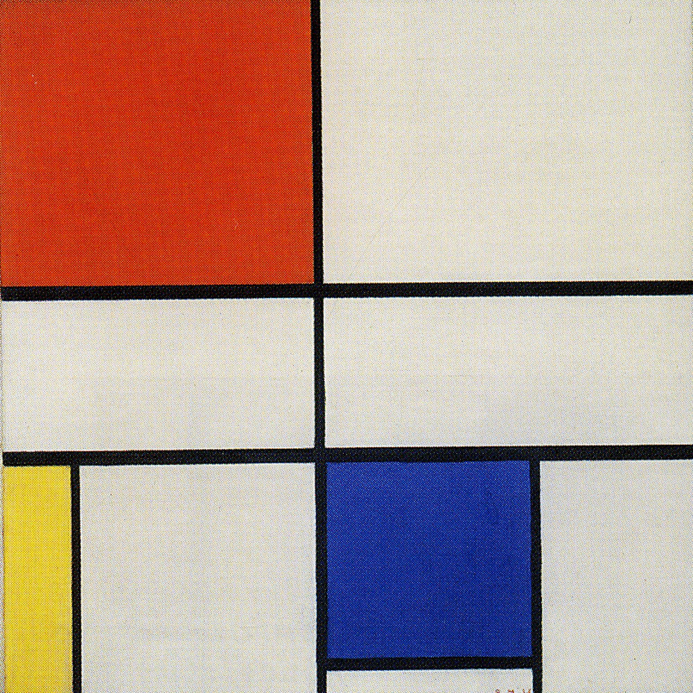 Piet Mondrian - Composition C (No. III) with Red, Yellow, and Blue