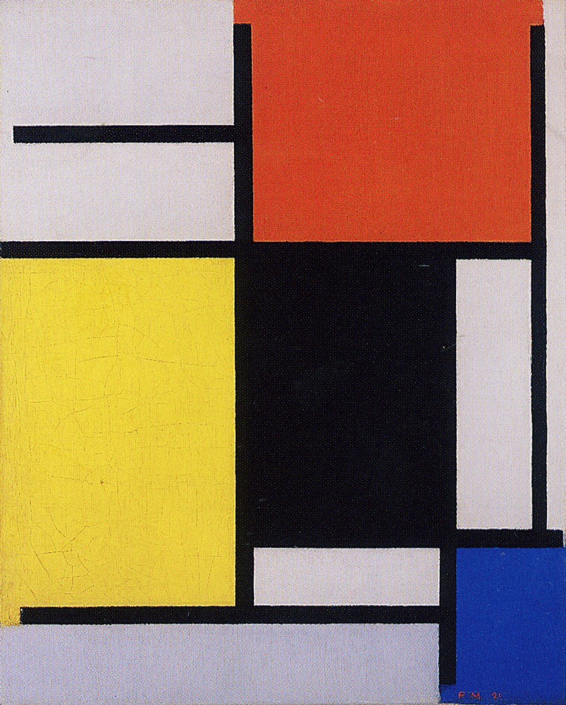 Piet Mondrian - Composition with Red, Yellow, Black, Blue, and Gray