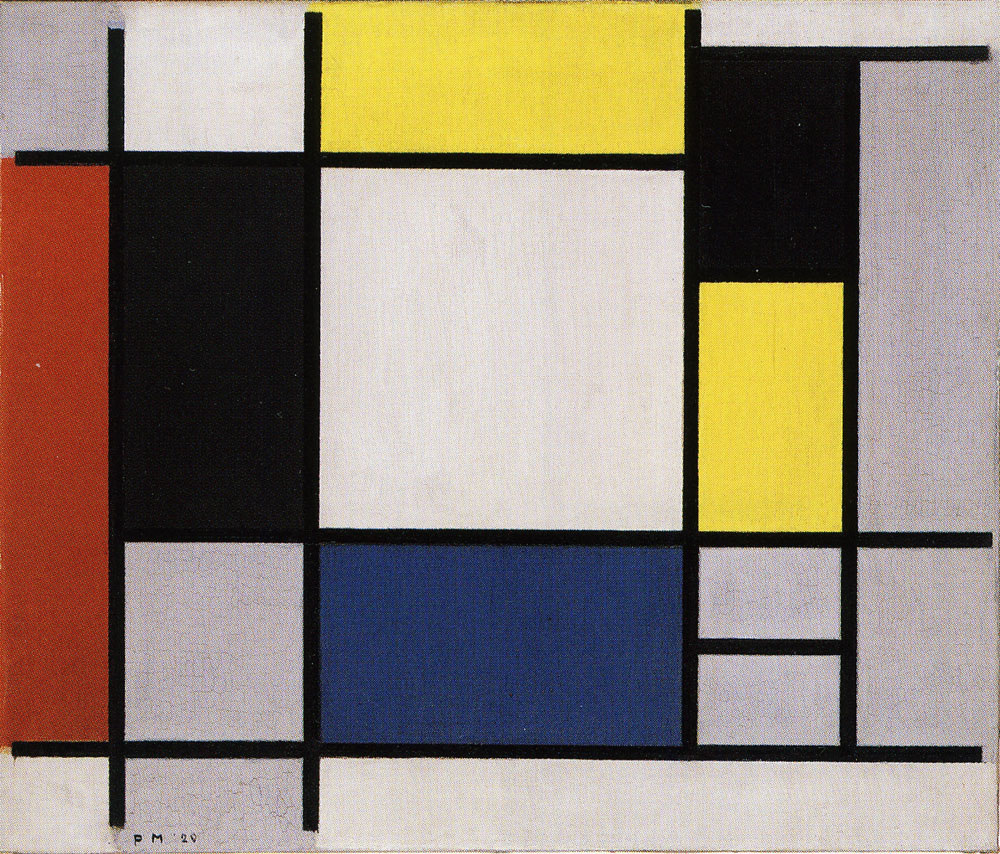 Piet Mondrian - Composition with Yellow, Red, Black, Blue and Gray
