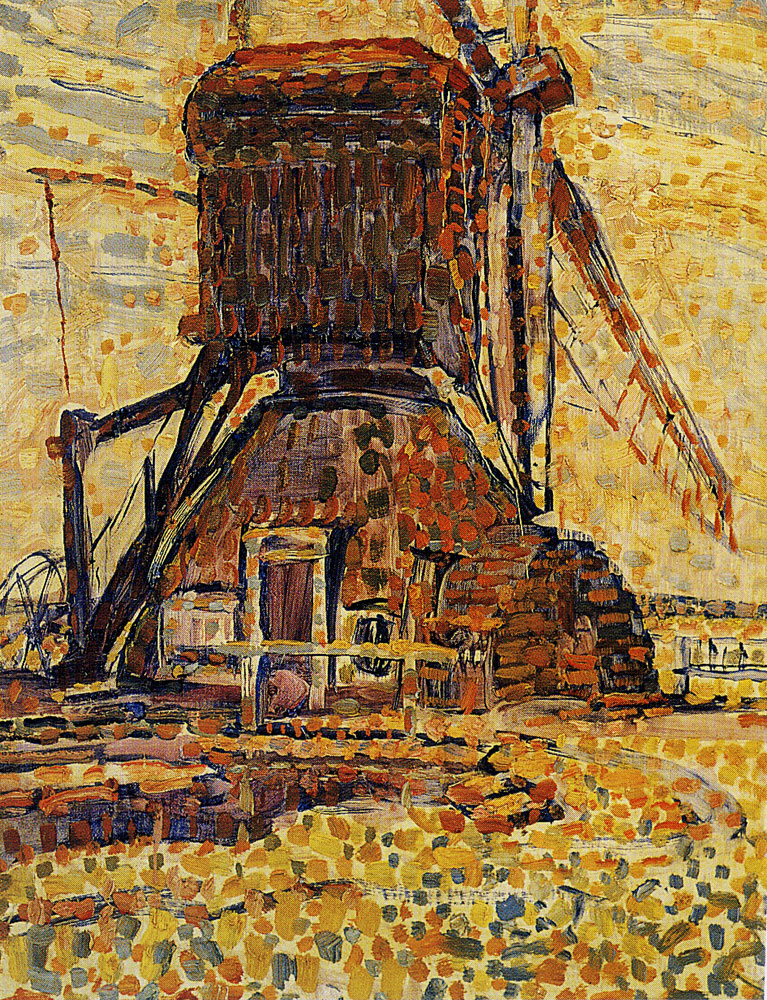 Piet Mondriaan - The Winkel Mill, Pointillist Version