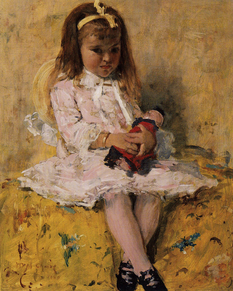 William Merritt Chase - Girl with Doll
