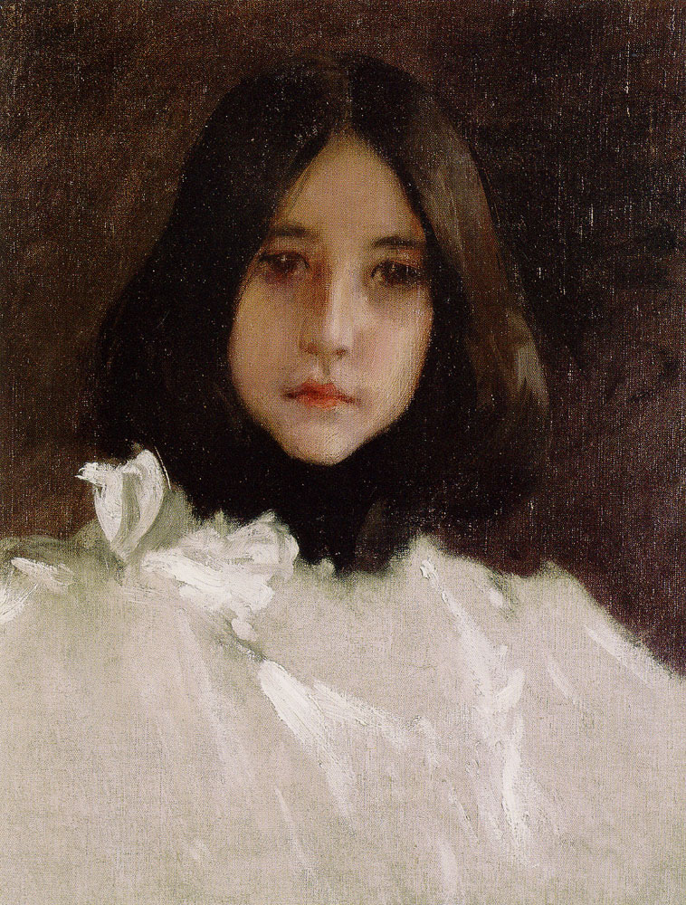 William Merritt Chase - Head of a Girl (The Artist's Daughter)