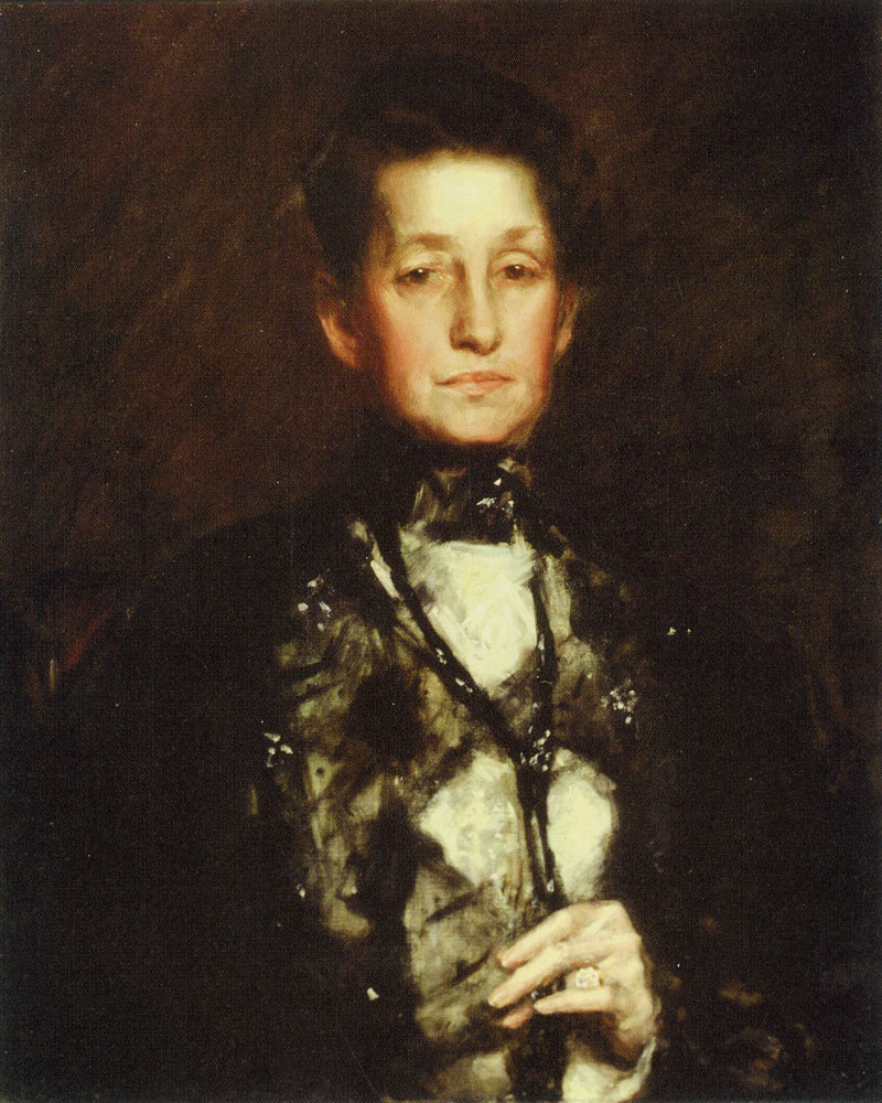 William Merritt Chase - Portrait of Mrs. (Marianna) B.W. Taylor