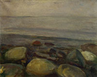 Edvard Munch Beach Landscape from Åsgårdstrand