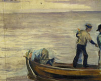 Edvard Munch Boat with Three Boys
