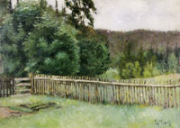 Edvard Munch Fence in the Forest